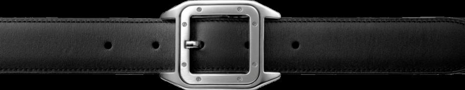 Belt Front Leather Black
