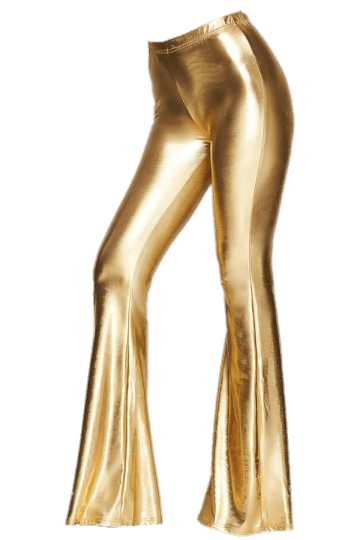 Gold Bell Bottom Leggings