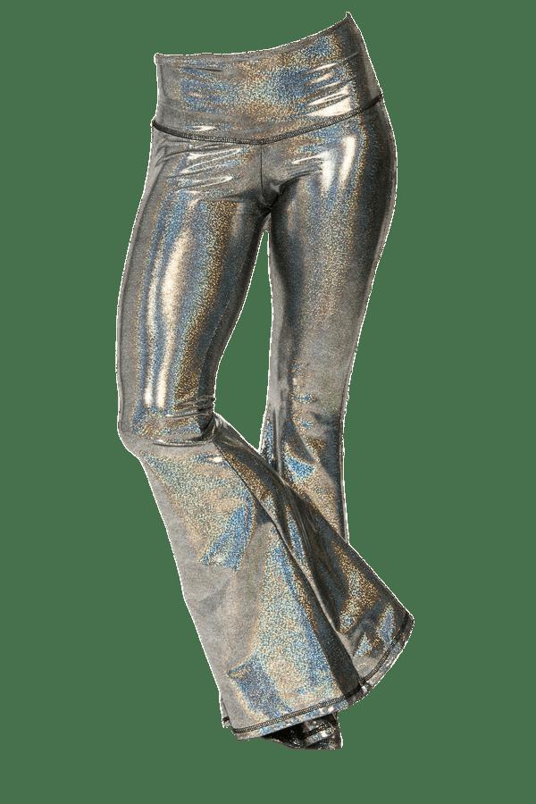 Silver Disco Bell Bottoms