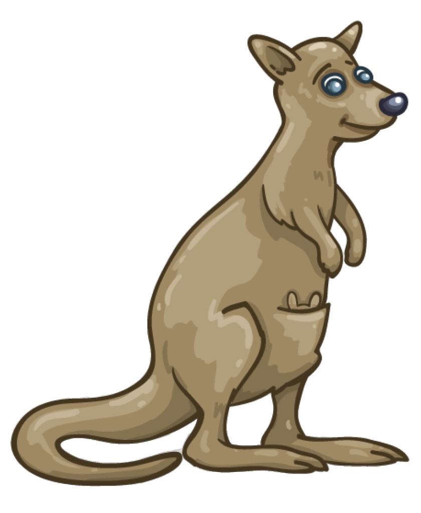 Kangaroo Wallaby PNG Clipart