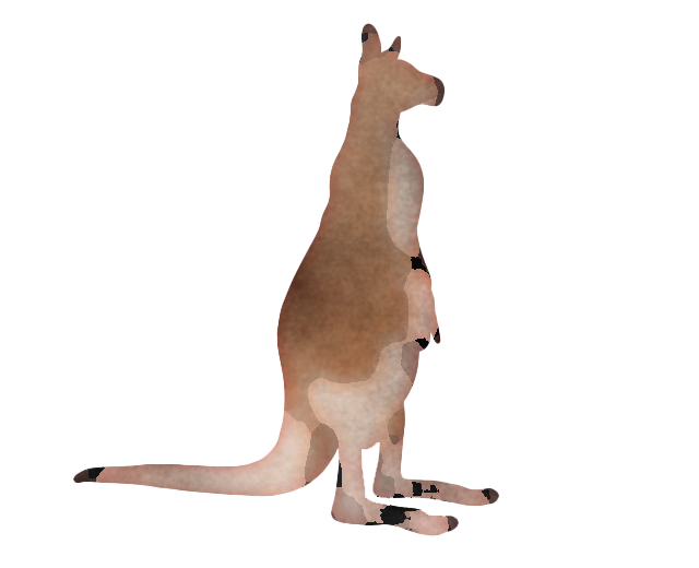 Kangaroo Wallaby PNG Transparent Picture