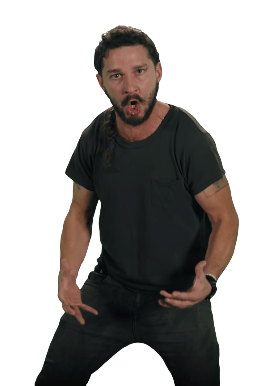 Just Do It Shia LaBeouf Pose