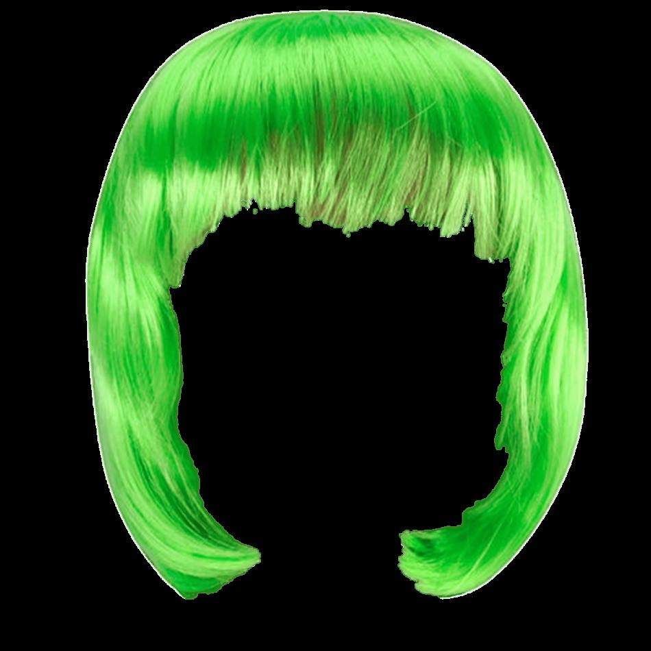 Wig Green Bob