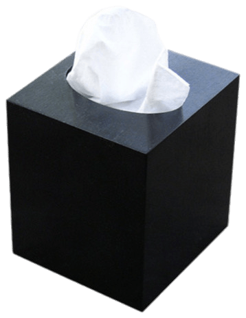 Facial Tissues Cube Box Black