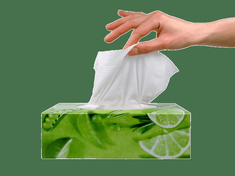 Facial Tissues Hand At Box