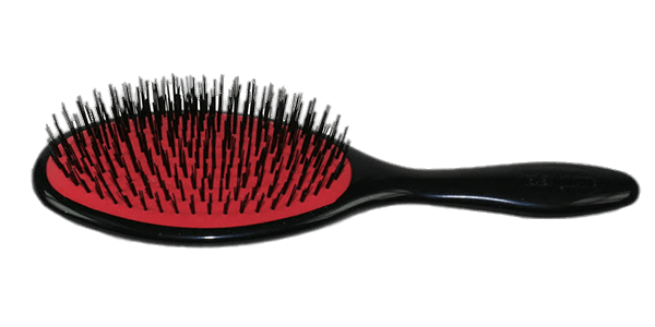 Hair Brush Red and Black