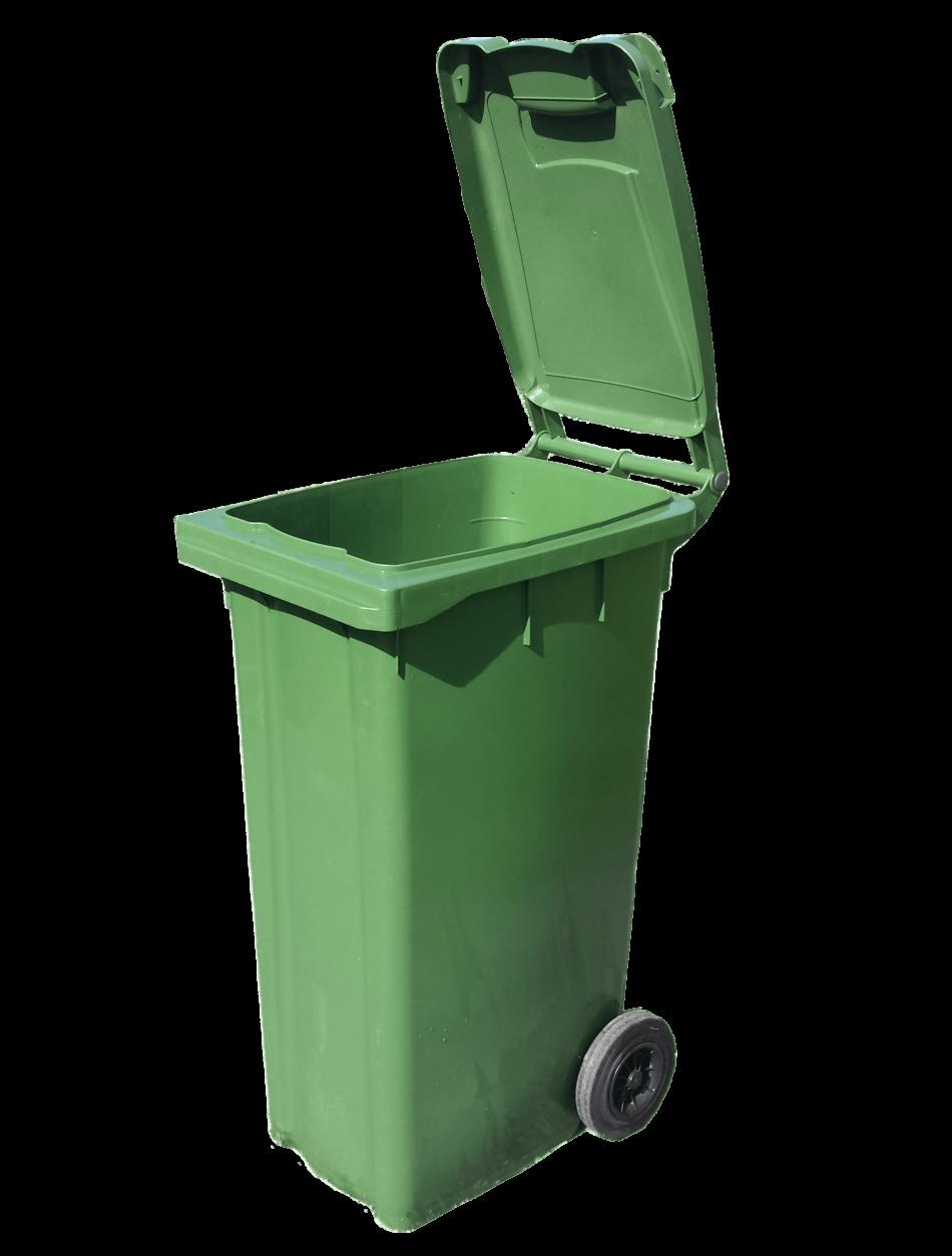 Bin Open Green Wheelie
