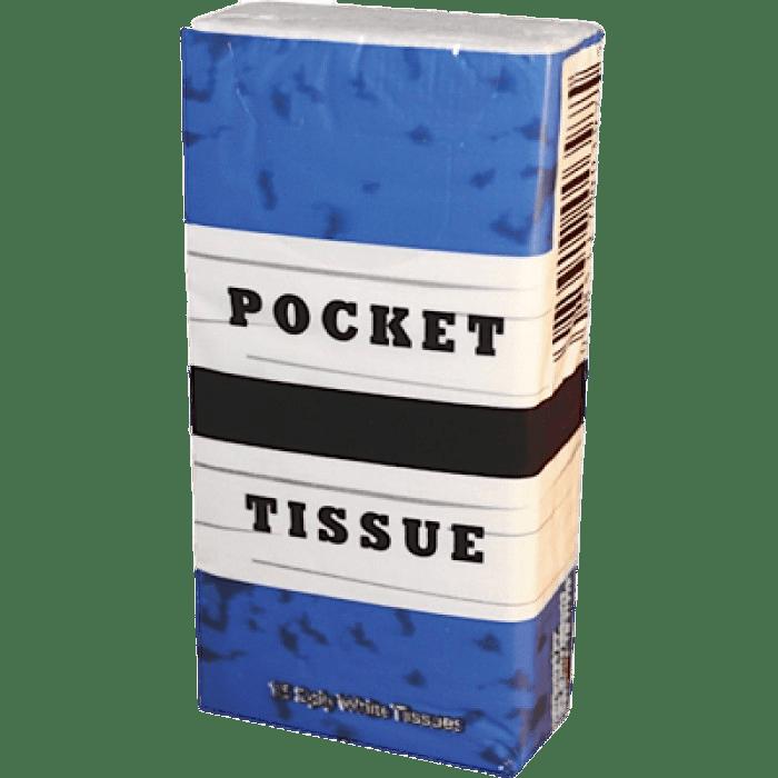 Pocket Tissues Blue