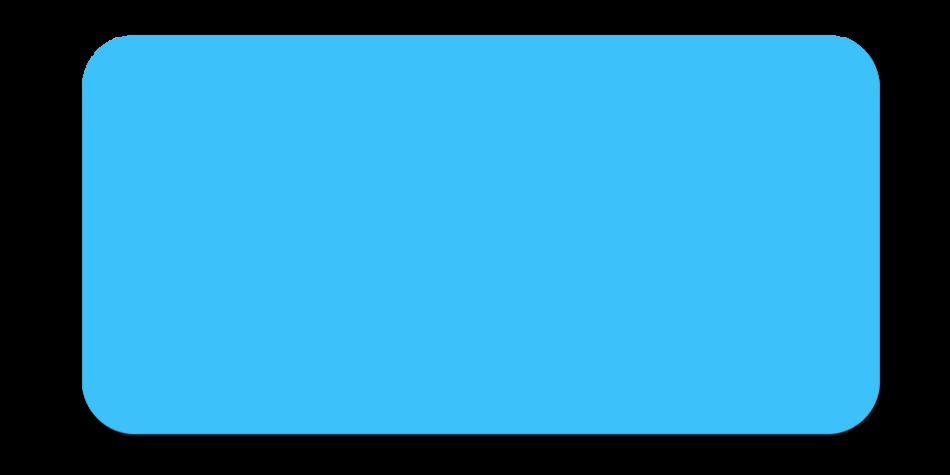 Large Flat Blue Button