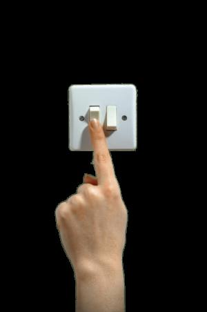Finger on Light Switch