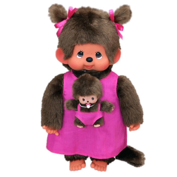 Monchhichi Mother and Baby