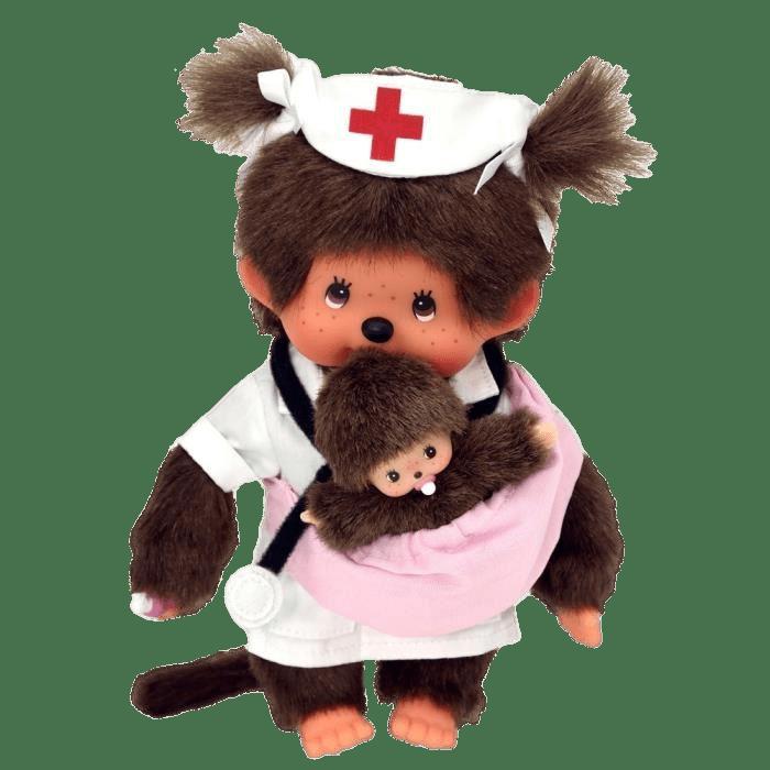 Monchhichi Nurse and Baby