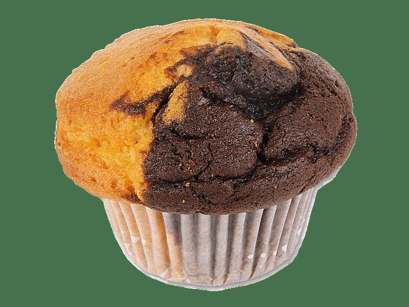 Muffin Vanilla and Chocolate