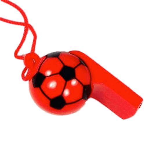 Red Football Whistle