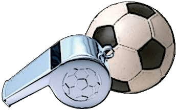 Football and Whistle Illustration