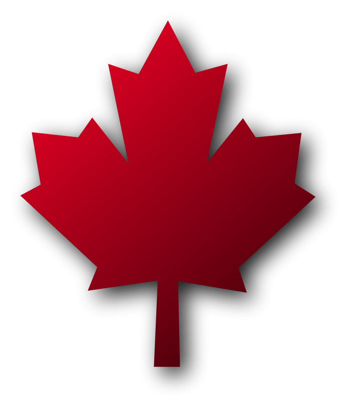 Canadian Maple Leaf With Shadow