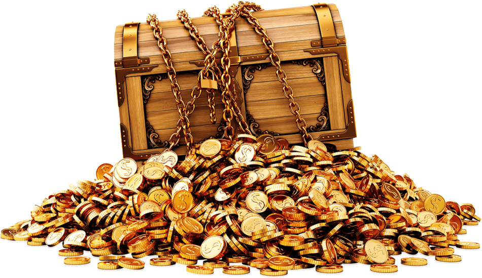 Treasure With Dollar Coins