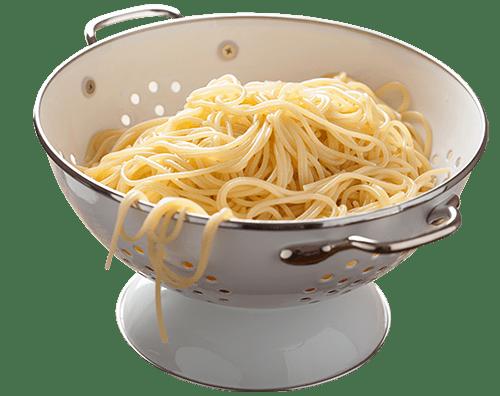 Spaghetti In Sieve