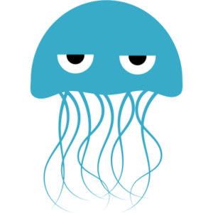 Angry Jellyfish Clipart