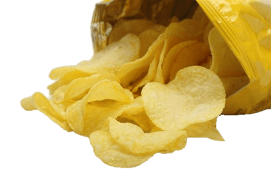 Crisps Coming Out Of Bag