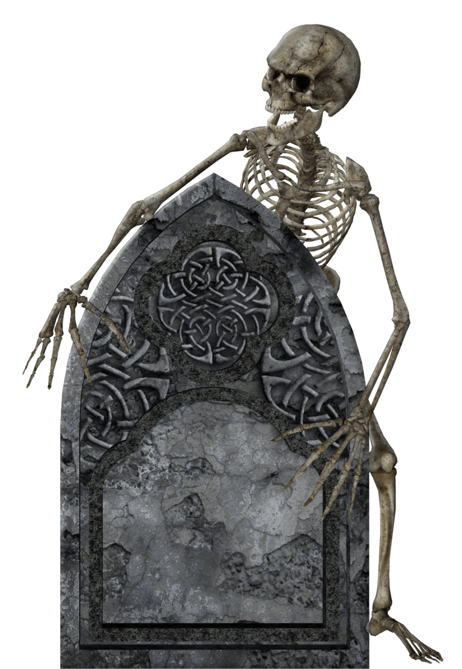 Headstone and Skeleton