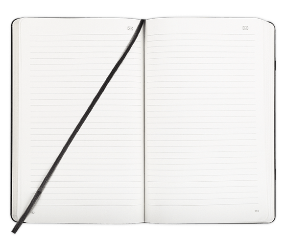 Open Moleskine Notebook