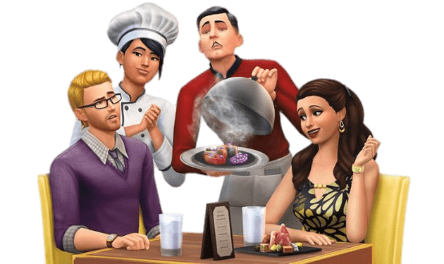 The Sims At the Restaurant