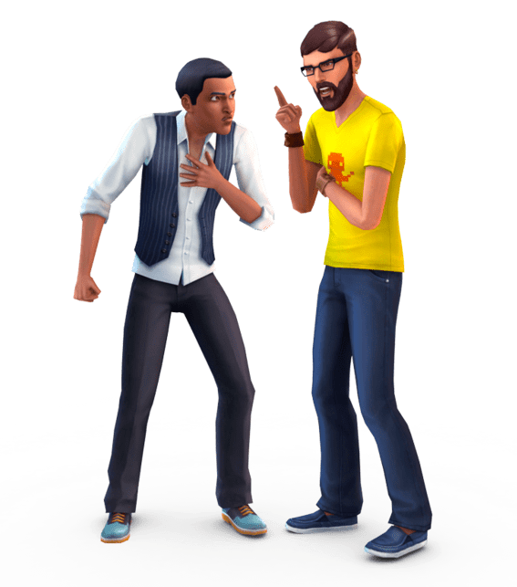 The Sims Guys Arguing