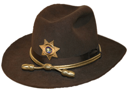 Brown Sheriff's Hat