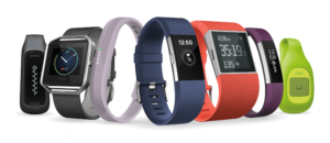 Line Up Of Fitbit Connected Objects