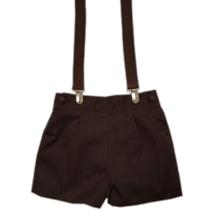 Braces on Brown Short