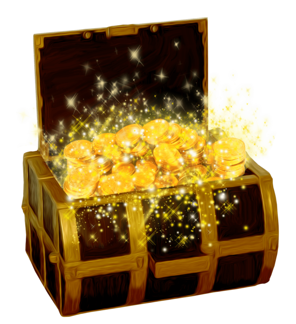 Treasure With Shining Coins
