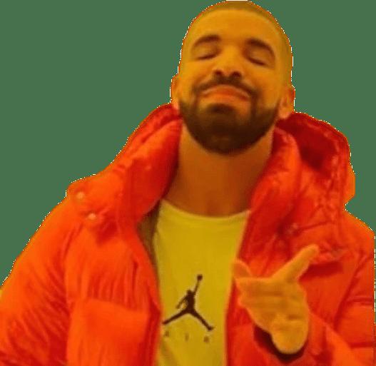 Drake Smiling Meme Front View