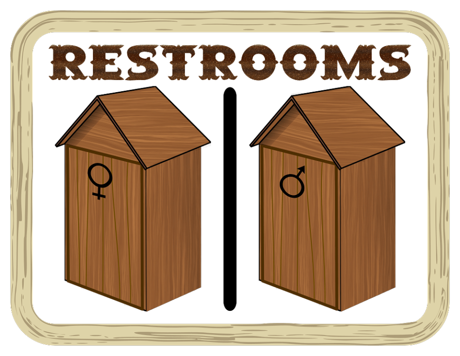 Restrooms Wooden Cubicles