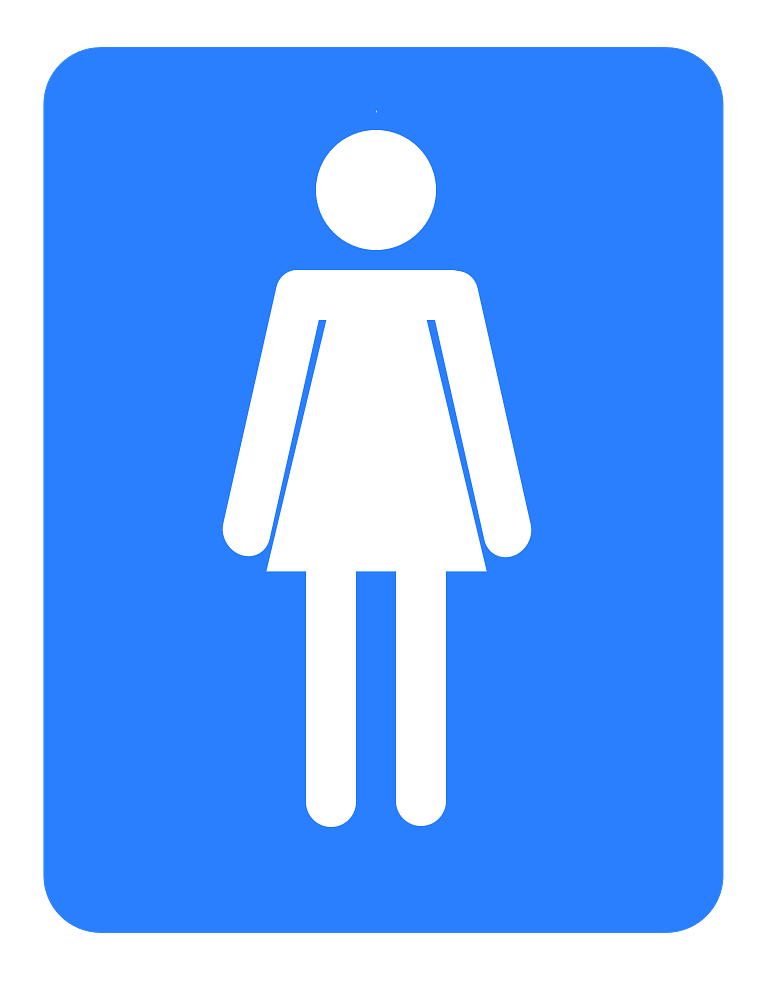 Restroom for Women Blue Icon