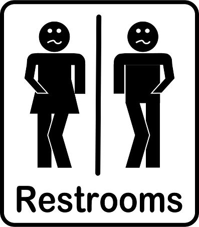 Male and Female Restrooms