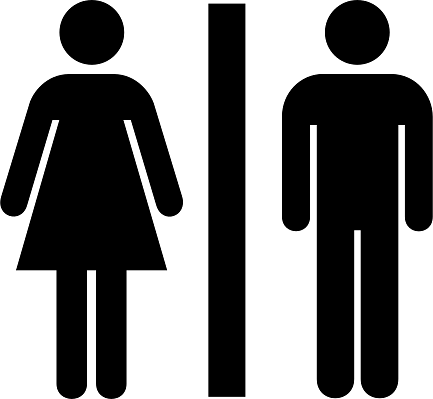 Male and Female Toilet Icon No Background