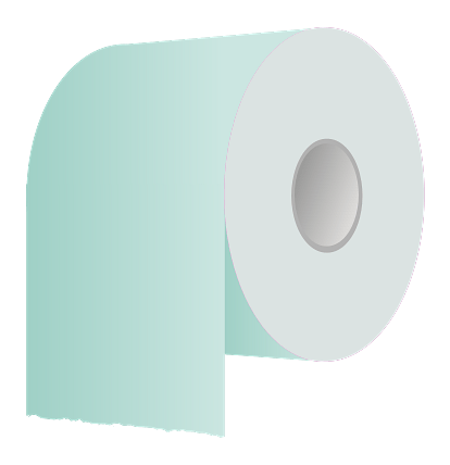 Blue Toilet Paper Roll Clipart