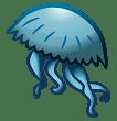 Blue Jellyfish Drawing