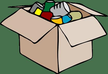 Open Cardboard Box Full of Stuff
