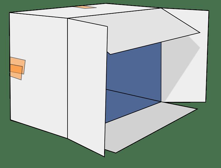 White Cardboard Box on its Side